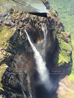 自然,絶景,虹,海外旅行,秘境,飛行機からの景色,ベネズエラ,エンジェルフォール