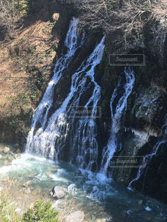 自然,風景,屋外,川,北海道,滝,美瑛,白ひげの滝