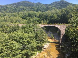 橋,森林,北海道,山,景色,橋梁,音更川
