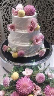 花,ケーキ,ピンク,結婚式,ウエディング,パーティー,ウエディング ケーキ