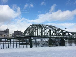 風景,空,冬,橋,雪,雲,青空,川,北海道,旭橋