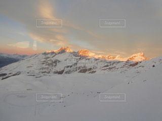 自然,冬,夕焼け,雪山,山,景色,涼しい,旅行,旅,スイス,ツェルマット,原風景,季節違い