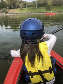 屋外,カヌー,水面,人,カヤック,ヘルメット,個人用保護具