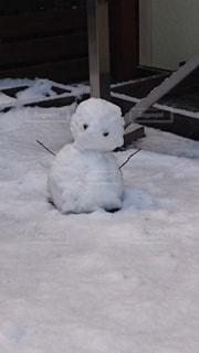 冬,雪,雪だるま,寒い,ウッドデッキ