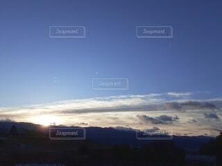 空,朝日,雲,山,正月,お正月,日の出,新年,初日の出