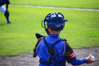 野緑の自然豊かな場所で野球の写真・画像素材[3197272]