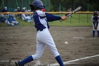 野球少女の写真・画像素材[3842350]