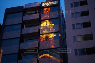 東京タワー,東京,夕方,反射,ガラス,光,都内