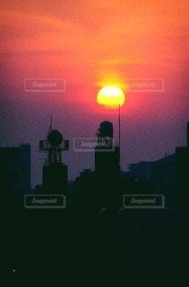 空,東京,夕暮れ,都会,夕陽,sunset