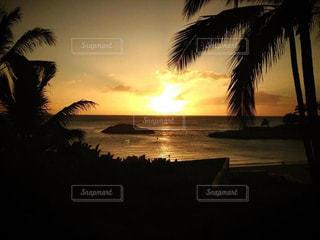ハワイの夕陽の写真・画像素材[3199722]
