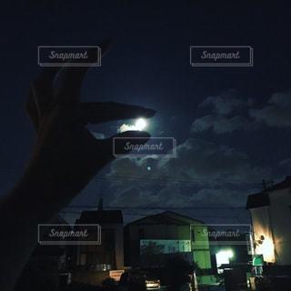 夜,屋外,月,満月,スーパームーン,月遊び