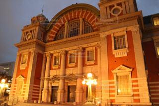 建物,夜景,屋外,大阪,中央公会堂