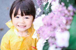 紫陽花との写真・画像素材[3380352]
