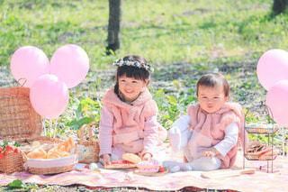 うさぎさんのピクニックの写真・画像素材[4365958]