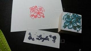 花,デザイン,手作り,手書き,消しゴムはんこ,図面