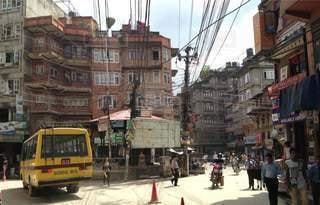 風景,建物,屋外,都会,旅,バス,町,通り,ネパール,車両,フォトジェニック,忙しい