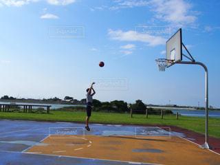 自然,スポーツ,屋外,ボール,バスケットボール,遊び,日中,シュート,バスケコート