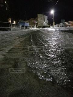 夜,雪,道路