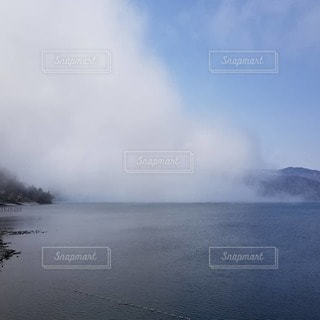 風景,空,湖,雲,山,日中