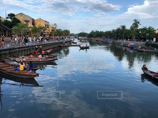 船,川,ランタン,景色,祭り,ベトナム,ホイアン,日中,トゥボン川