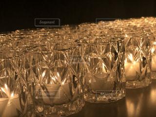 ガラス,美しい,キャンドル,クリスマス,チャペル,点灯