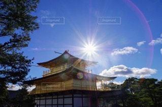 空,屋外,虹,金閣寺,景観