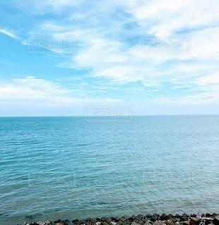 自然,海,空,水面,海岸