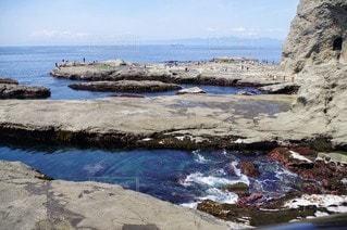 自然,海,空,屋外,ビーチ,島,水面,海岸,岩,日中