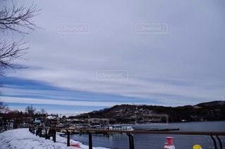 風景,空,雪,屋外,湖,水面,山,日中