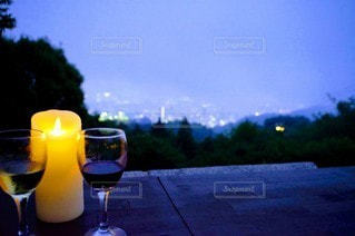 風景,空,ガラス,ライトアップ,食器,ワイン,カクテル,神戸,ドリンク,アルコール,飲料
