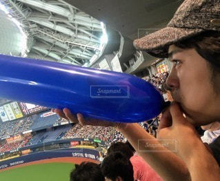 野球観戦の写真・画像素材[3214681]