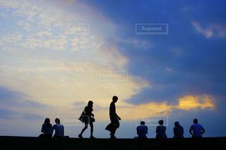 風景,海,空,夏,夕暮れ,シルエット,Tシャツ,twilight,フォトジェニック,夏服,半袖,暑かったぁぁ