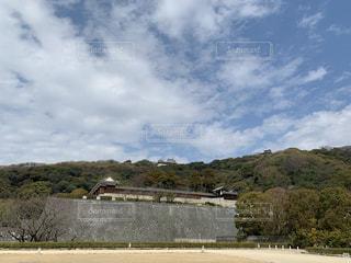 風景,空,屋外,城,お城,山,旅行,石垣