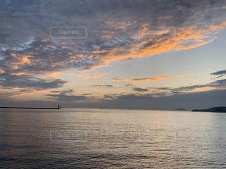 自然,風景,海,空,夕日,屋外,太陽,ビーチ,夕焼け,夕暮れ,水面