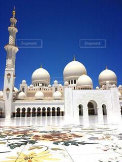 風景,空,建物,屋外,白,青い空,旅行,ドーム,モスク,アラビア,芸術的,アブダビ,仏舎利塔,レジャー・趣味