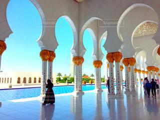 風景,建物,青い空,旅行,ドーム,モスク,趣味,アラビア,芸術的,アブダビ,仏舎利塔