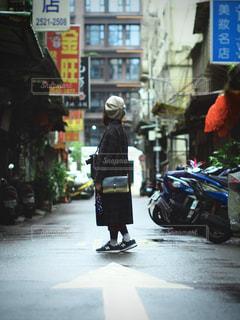 街角,街並み,人物,台湾,路地裏