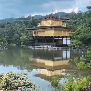 自然,空,綺麗,水面,池,景色,寺,金閣寺