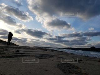 自然,風景,海,空,砂,砂浜,彼女