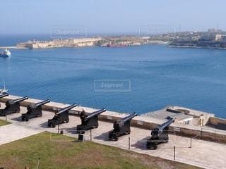 海,空,ヨーロッパ,大砲,マルタ島,マルタ