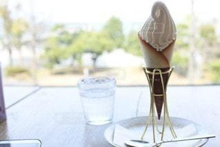 窓,デザート,ソフトクリーム
