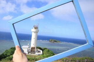 海,空,海岸,沖縄,灯台,石垣島,平久保崎灯台