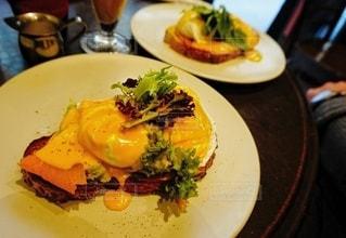 メルボルンのカフェで食べた朝食の写真・画像素材[3220972]