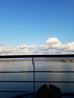 風景,海,空,雲,水面,露天風呂