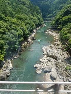 自然,森林,川,景色,渓谷,谷,保津川下り