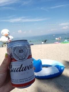 夏,晴れ,晴天,波,ビール,summer,琵琶湖,湖畔,beer