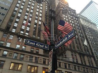 建物,ニューヨーク,街並み,屋外,窓,標識,都会,高層ビル,通り