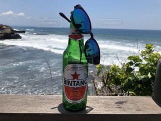 海,空,屋外,ビーチ,ビール,バリ島,眺め,タナロット,ビンタン