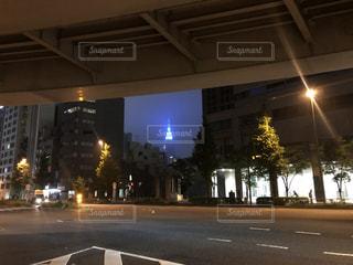 建物,夜,夜景,屋外,道路,高速道路,都会,高層ビル,新宿,代々木,甲州街道