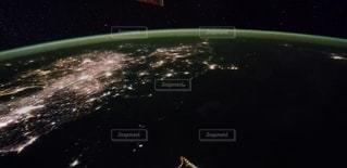 夜,地球,惑星,スペース
